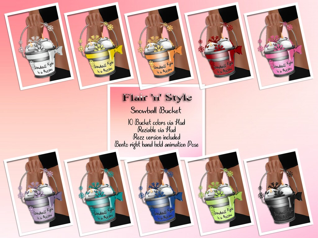 {Flair 'n' Style} Snowball Bucket
