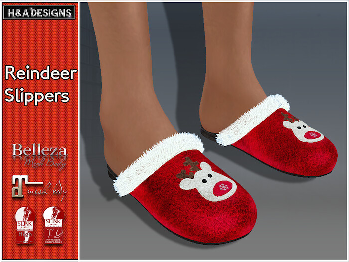 [H&A Designs]-Reindeer Slippers