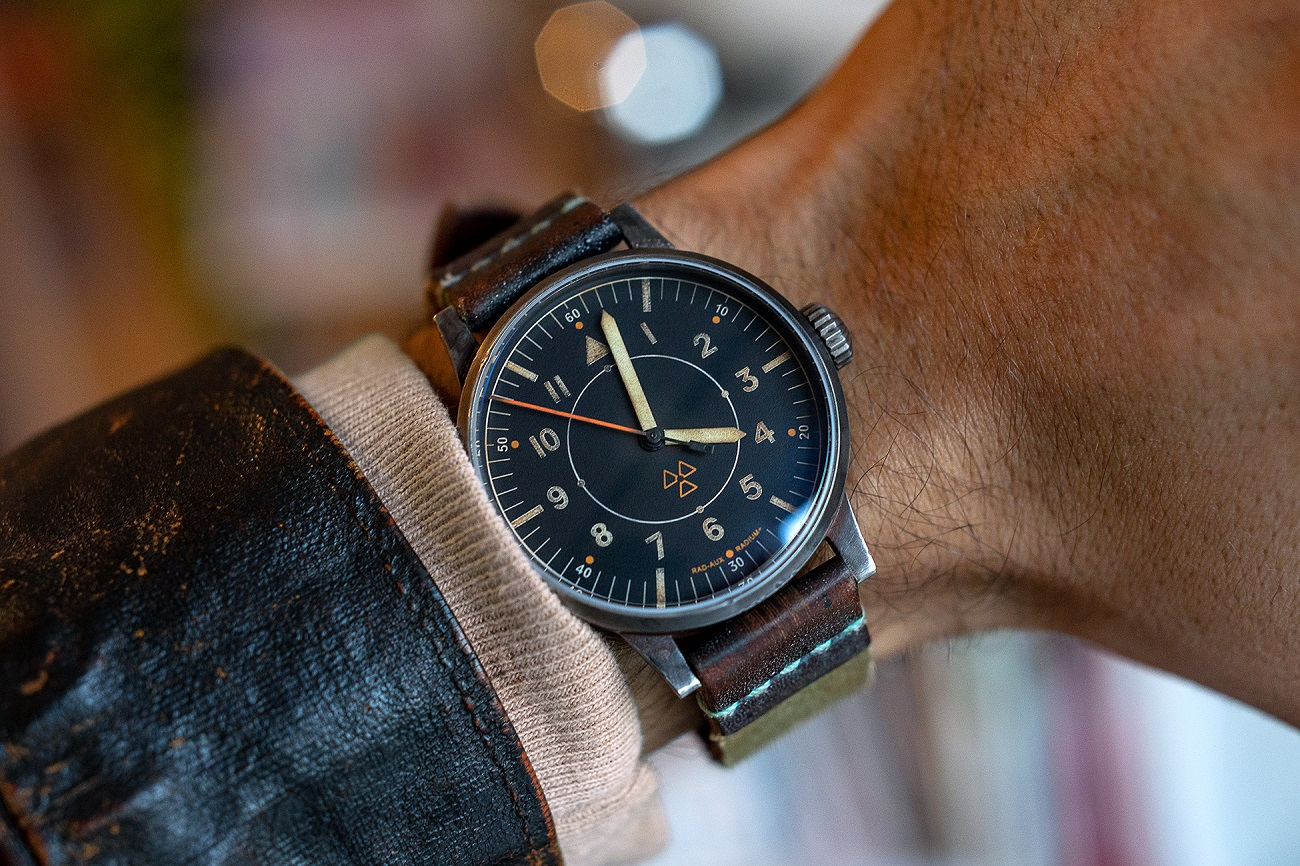 Laco-RAD-AUX-Observer-watch-on-wrist