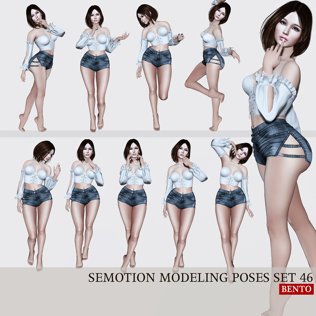 SEmotion Female Bento Modeling poses set 46