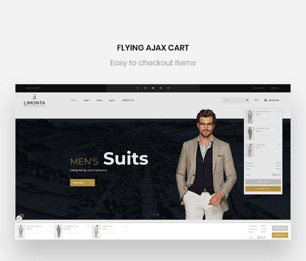 ajax cart - fly cart