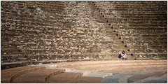 Alone in the amphitheatre