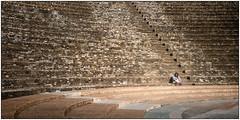Alone in the amphitheatre