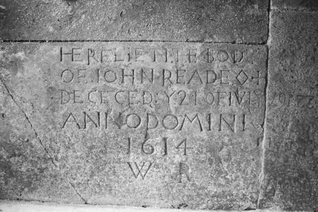 John Reade memorial of 1614, Winterborne Monkton