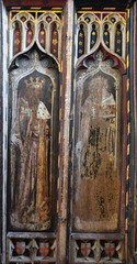 north aisle screen: David and Isaiah (15th Century)