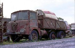 ergomammoth posted a photo:	Also in H.V Bowen's quarry in mid-Wales in 2004, was this 1974 Foden S40 six-wheeled tipper. I expect that it has probably fallen to bits by now.