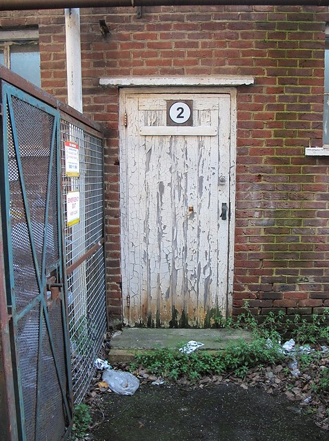 Hornby building - wooden door