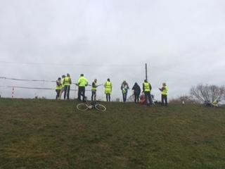 volunteers at the finsh