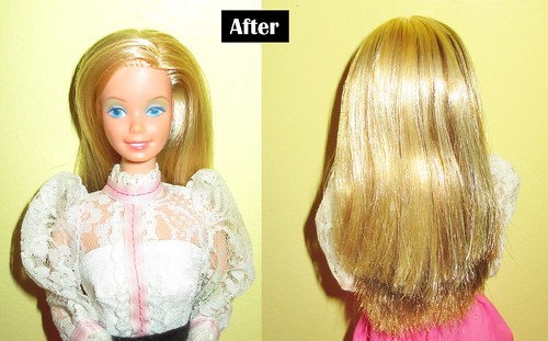 1982 Angel Face Barbie Transformation