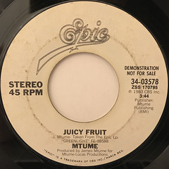 MTUME:JUICY FRUIT(LABEL SIDE-B)