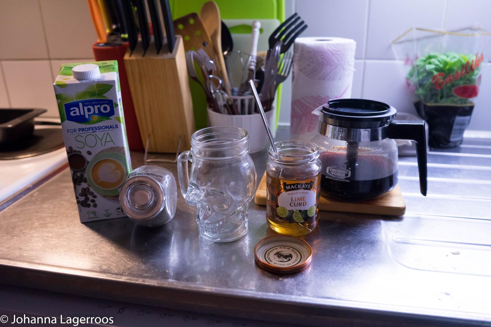 vanilla latte ingredients