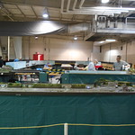 Here is an overall photo of the NTRAK layout that NRMRC had on display for this Show.
