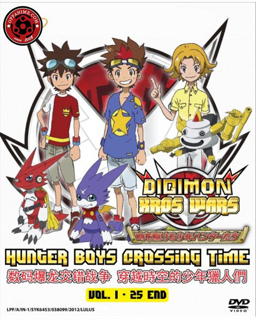 Digimon Xros Wars : Hunter Boys Crossing Time (TV 1 – 25 End) Anime DVD