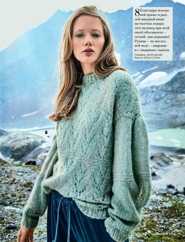 стиль вязаный свитер
