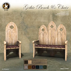 F&M Gothic Bench & Chair