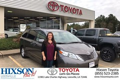 Happy Anniversary to Breanna on your #Toyota #Sienna from Kevin Marie Grossinger at Hixson Toyota of Leesville!