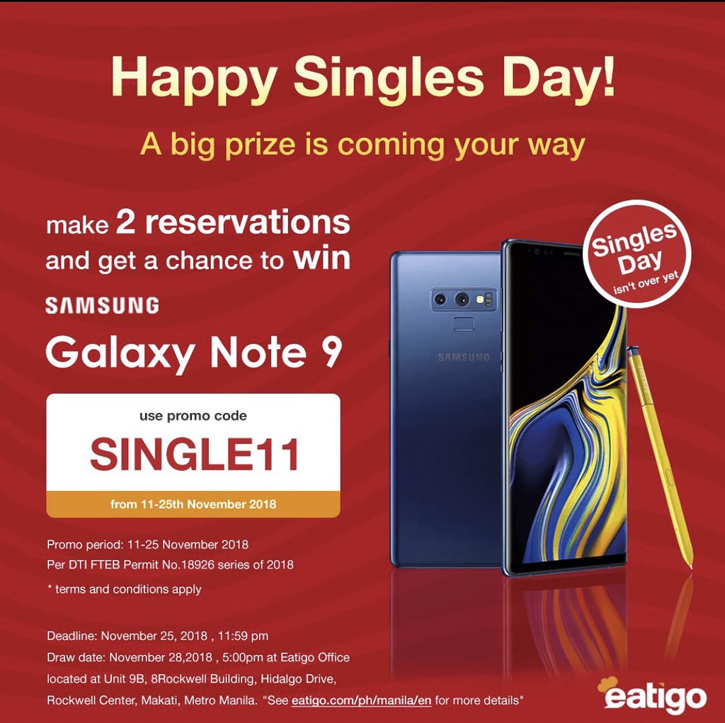 Single? Eatigo is Celebrating You with the Singles Day Promo