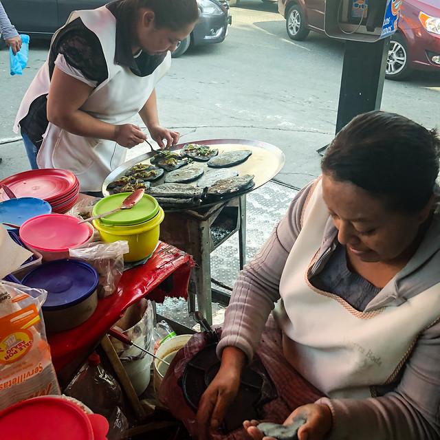 Women Making Tlacoyos