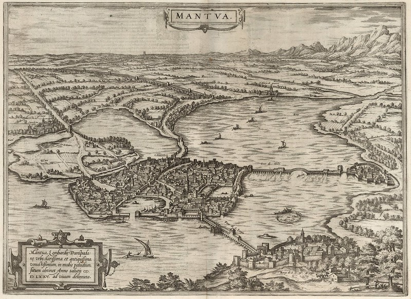 Georg Braun & Franz Hogenberg - Mantua (1575)