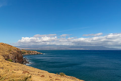 Shoreline of the wes coast of Maui, Hawaii