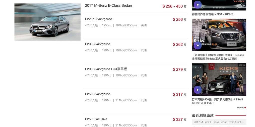 賓士E300價格