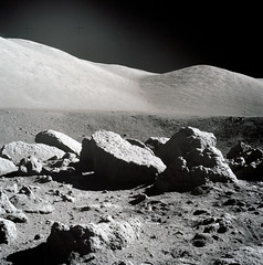 Panoramic view of Station 5 (Camelot Crater) during Apollo 17 EVA-2. Dec 12th, 1972. Original from NASA. Digitally enhanced by rawpixel.