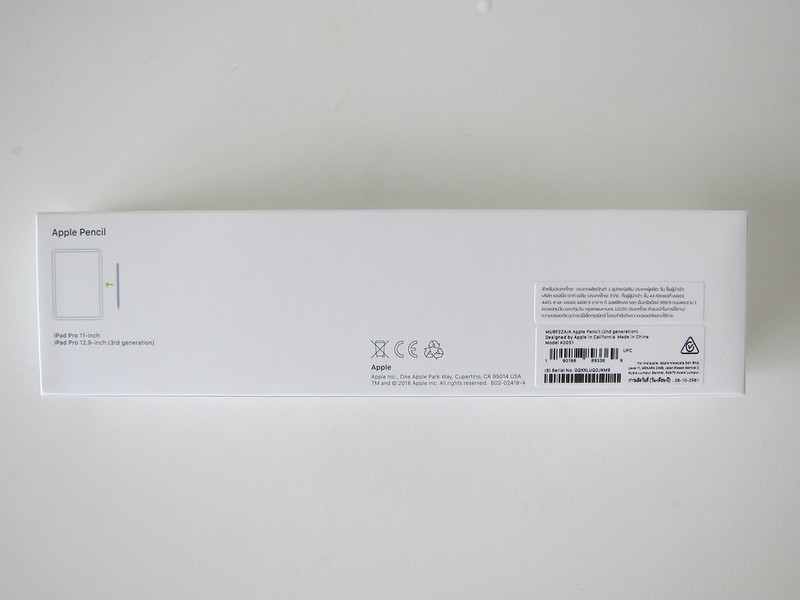 Apple Pencil (2nd Generation) - Box Back