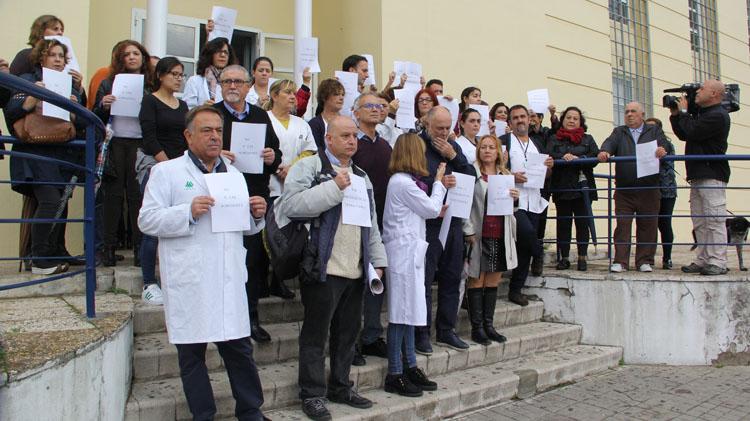 Los profesionales del Centro de Salud Norte protestan contra las agresiones sufridas