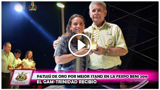 el-gam-trinidad-recibio-patuju-de-oro-por-el-mejor-stand-en-la-fexpo-beni-2018