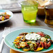 roasted vegetables with fresh cheese