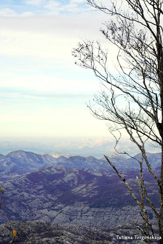 Вид на горы перед вершиной Одиево