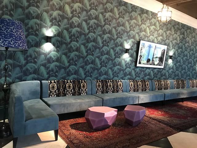 Manila House, function room, long sofa