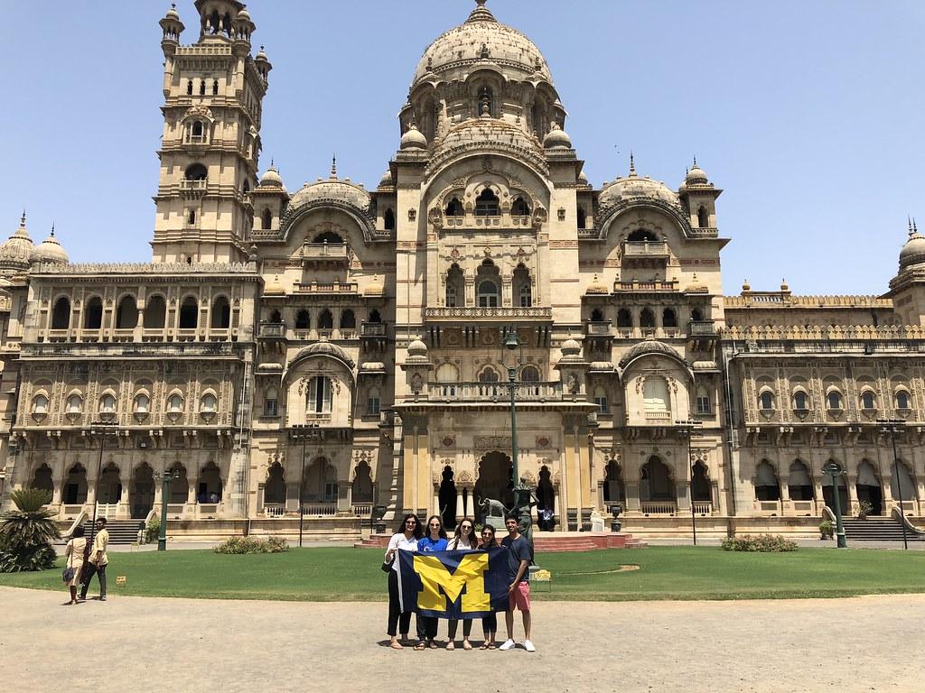 Sempere, Caroline _Vadadora, Gujarat, India _Laxmi Vilas Palace with U Mich Flag