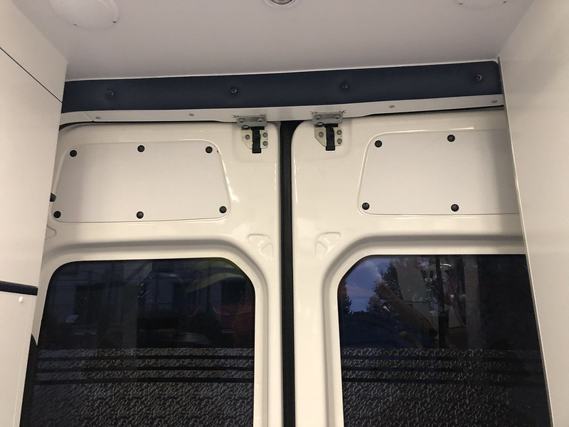 Ambulance doors from inside