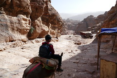 Climbing Down from the Monastery at Petra (14)