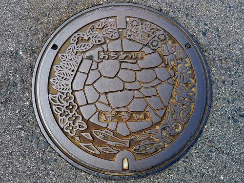 Ochiai Nakatsugawa Gifu, manhole cover (岐阜県中津川市落合のマンホール)