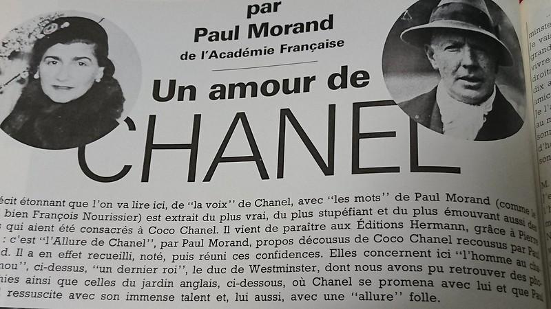 Un amour de CHANEL par Paul Morand de l'Academie Francaise