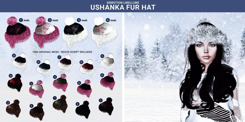 SEmotion Libellune Ushanka Fur Hats @ Arcade - TeleportHub.com Live!