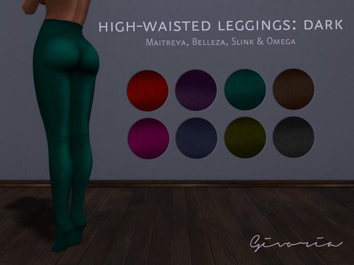 High-Waisted Leggings Dark - TeleportHub.com Live!