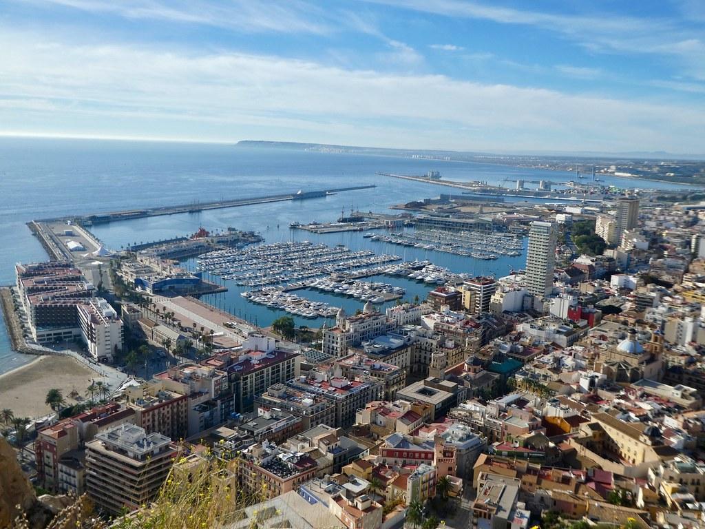 Stunning views across the Alicante marina