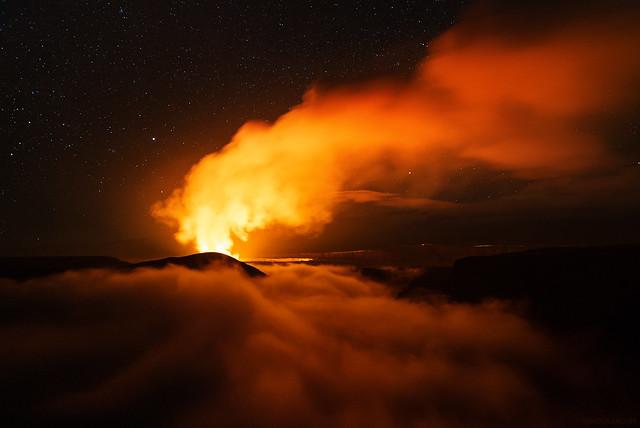 Fog Filled Crater