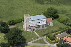 St Martin's Church in Thompson - aerial Norfolk UK