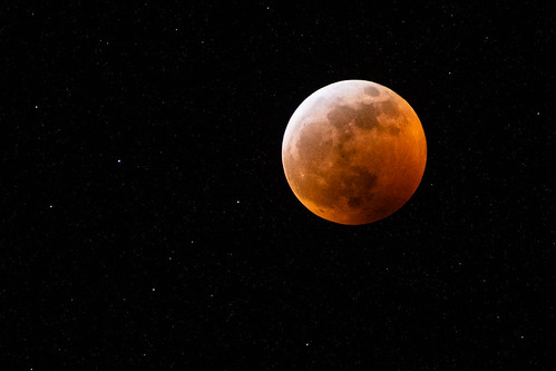 Super blood wolf moon. Lunar eclipse January 2019.