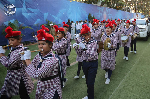 Bal Sewa Dal Band lead the procession