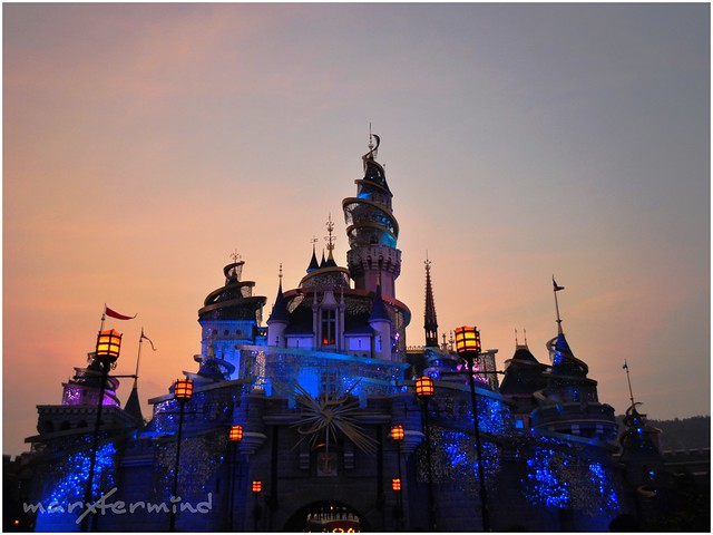 Sleeping Beauty Castle Sunset