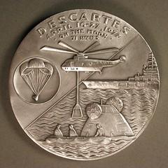 Apollo 16 silver medal reverse