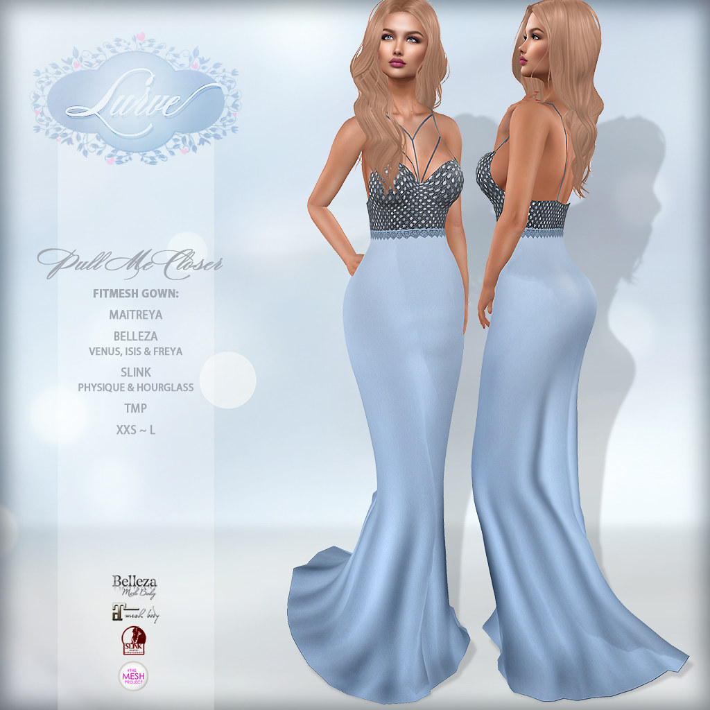 *Lurve* Sweetly Loved Gown in Blue