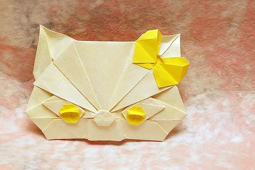 Origami Ribbon Cat (Erica Matsui)