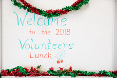 Volunteers Christmas Awards lunch with Margaret Nowak 5/12/18