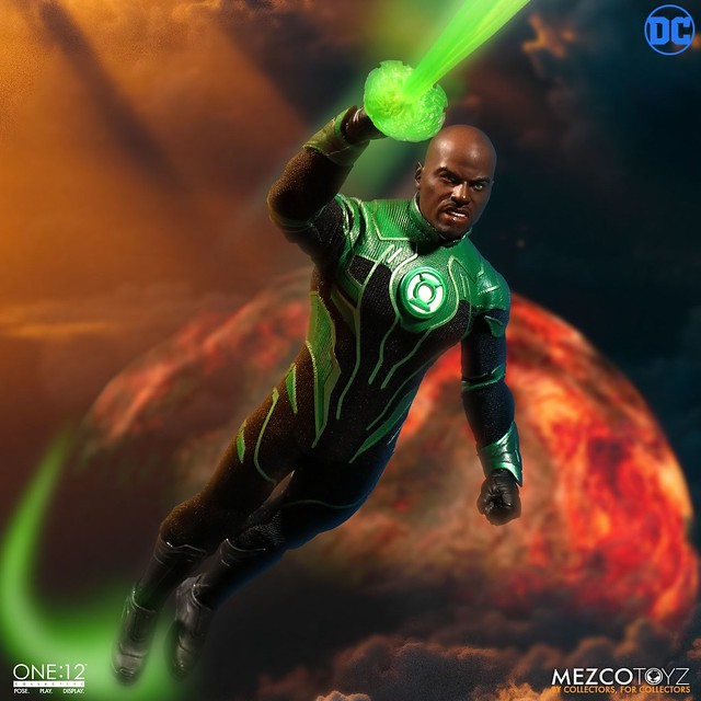 MEZCO ONE:12 COLLECTIVE 系列 DC【綠光戰警 約翰·史都華】John Stewart - The Green Lantern 1/12 比例人偶作品
